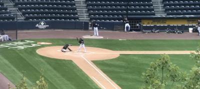 Gleyber Torres bats at PNC Field on Sept. 3, 2020