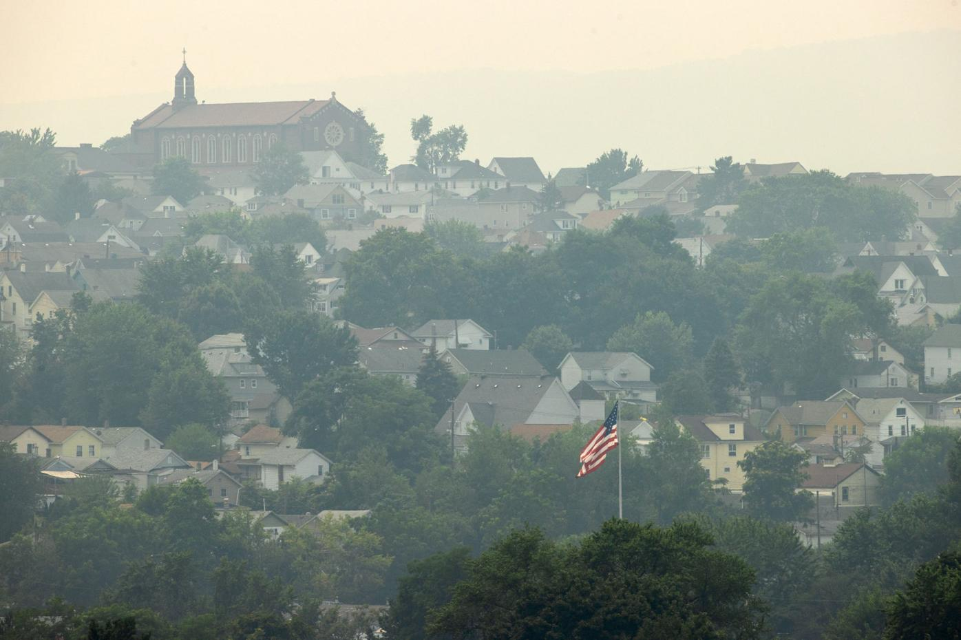 Smoky haze from western fires blankets Northeast PA