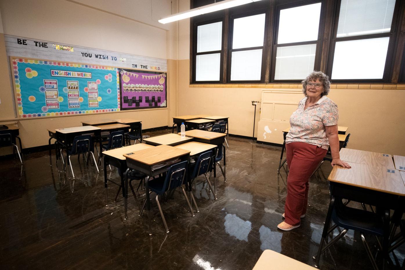 Northeast Intermediate School remediation work tour