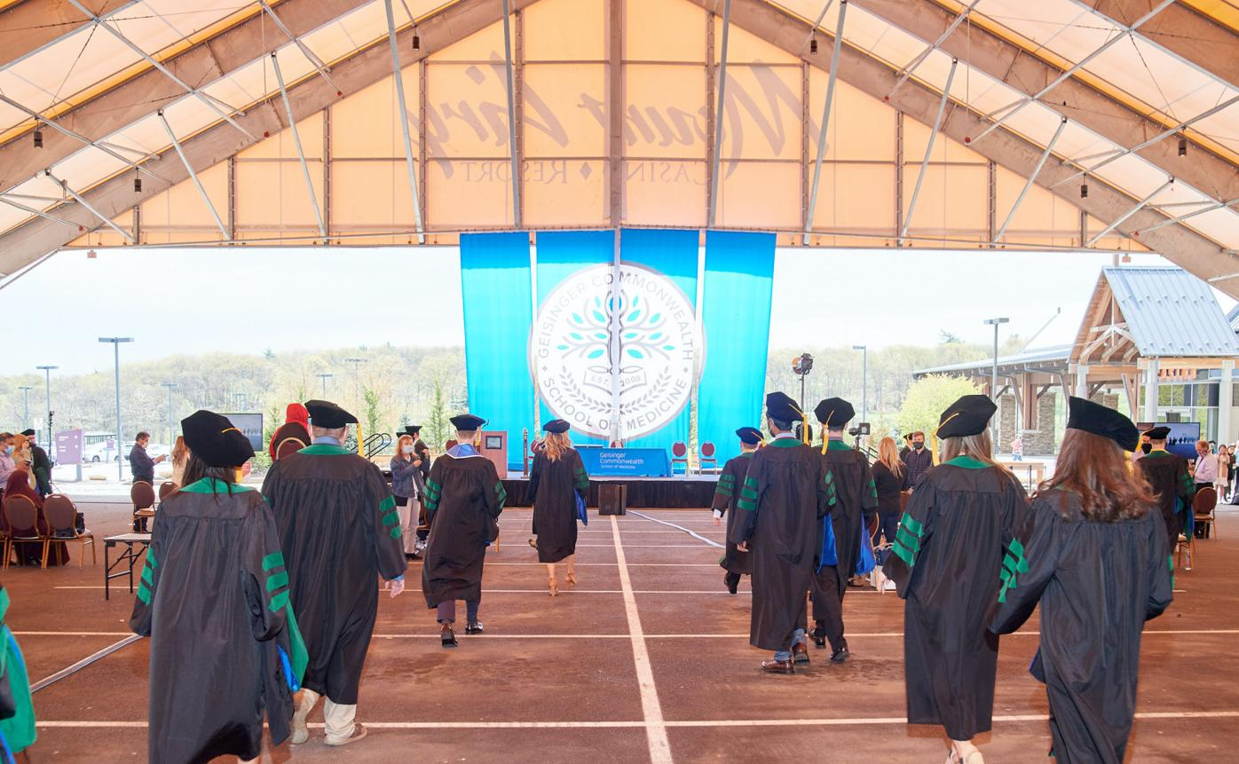 Medical school graduates ninth class of doctors