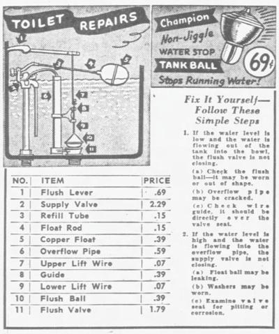 65 Years Ago - Sale at Leonard's Store