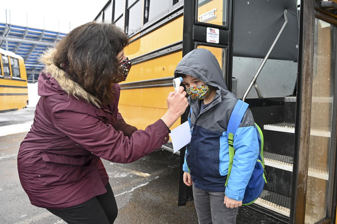 Valley View students return to classrooms for first time since March