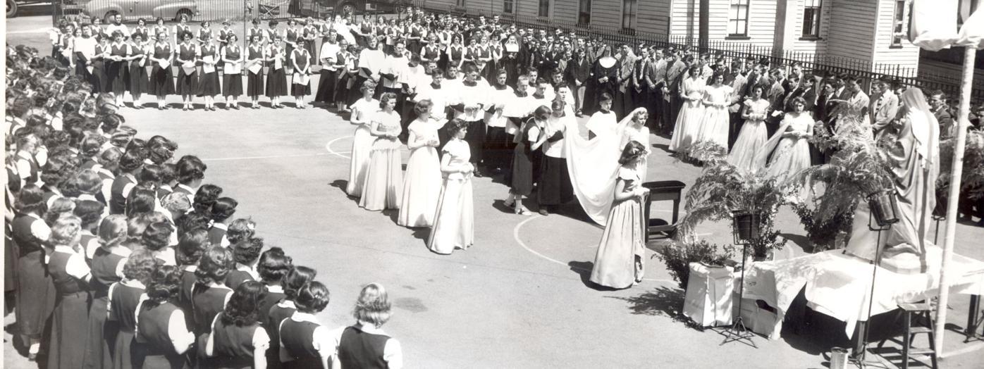 South Scranton Catholic High students hold May crowning