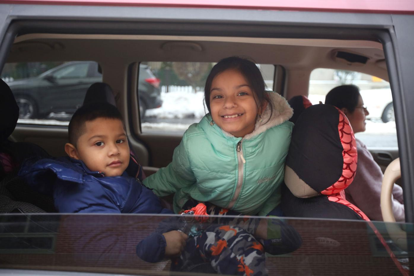 Out&About at a Christmas celebration drive-by at John G. Whittier Elementary School