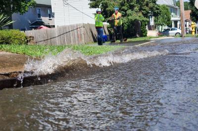 12-inch water main breaks in Hill Section