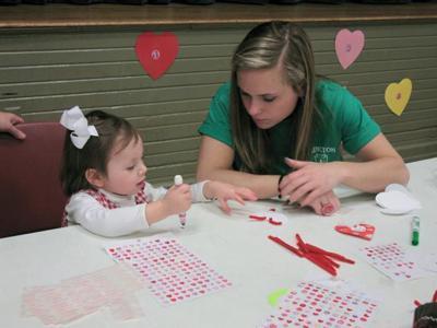 Valentine workshop draws families to Waverly