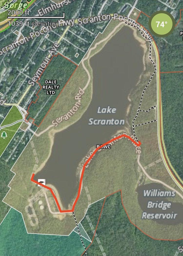 Part of Lake Scranton walking path to close