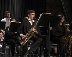 High school students practice with local musicians