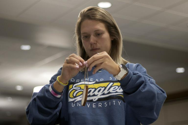 Students get into the holiday spirit with ornament decorating