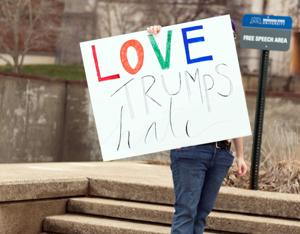 Love Trumps Hate Inauguration Day Protest