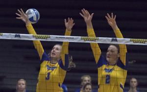 Volleyball opens conference play with a win