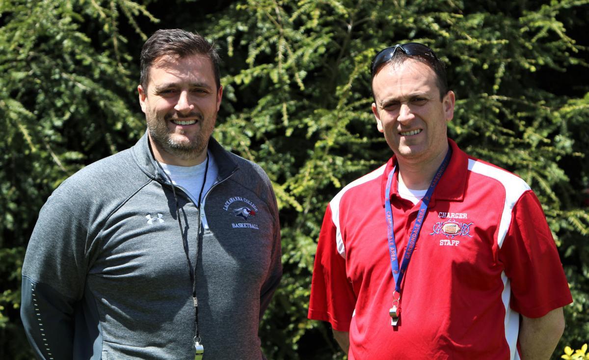 Landon (left) and Larry Gabriel.