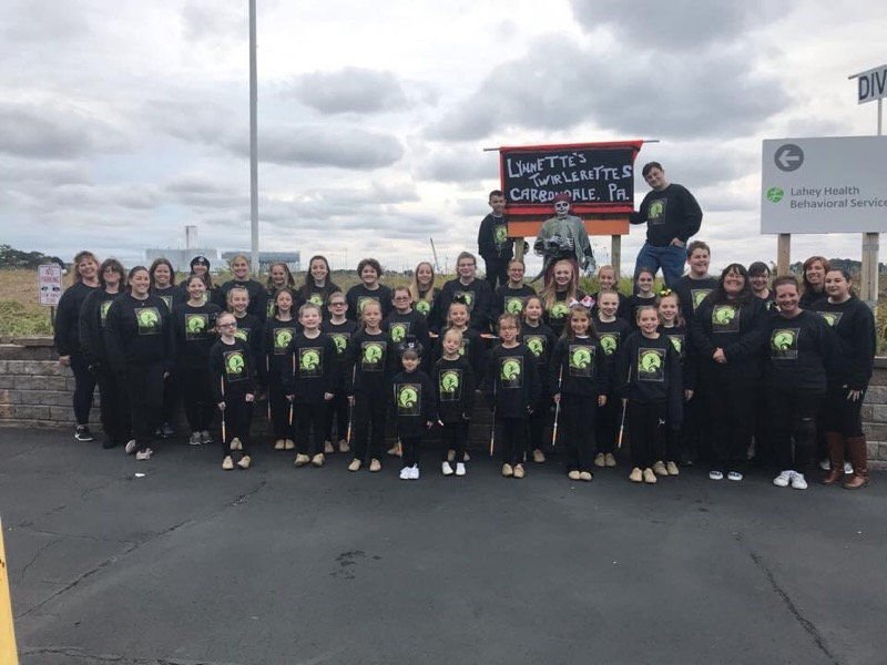 Salem Haunted Happenings Parade that kicks off the Halloween season in Salem Massachusetts included marchers from our area with a large group of Lynnette's Twirlerettes in 2019.