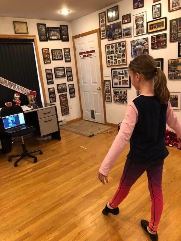 Vanessa Van Deusen, age eleven practices poses taught by Gina Grizzanti, a jazz dance instructor and assistant teacher with Lynnette's Twirlerette's. SUBMITTED PHOTO