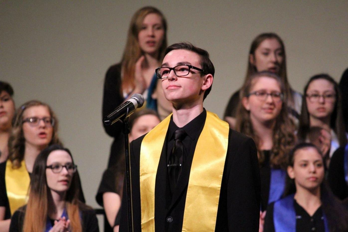 Singing sensation: Valley View senior recognized for outstanding talent