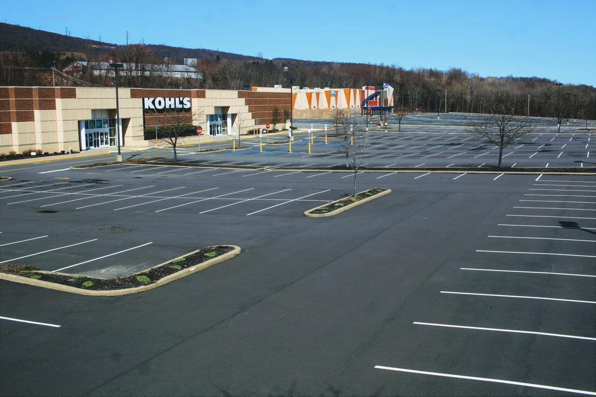 The bare parking lot of Kohl's in Dickson City.