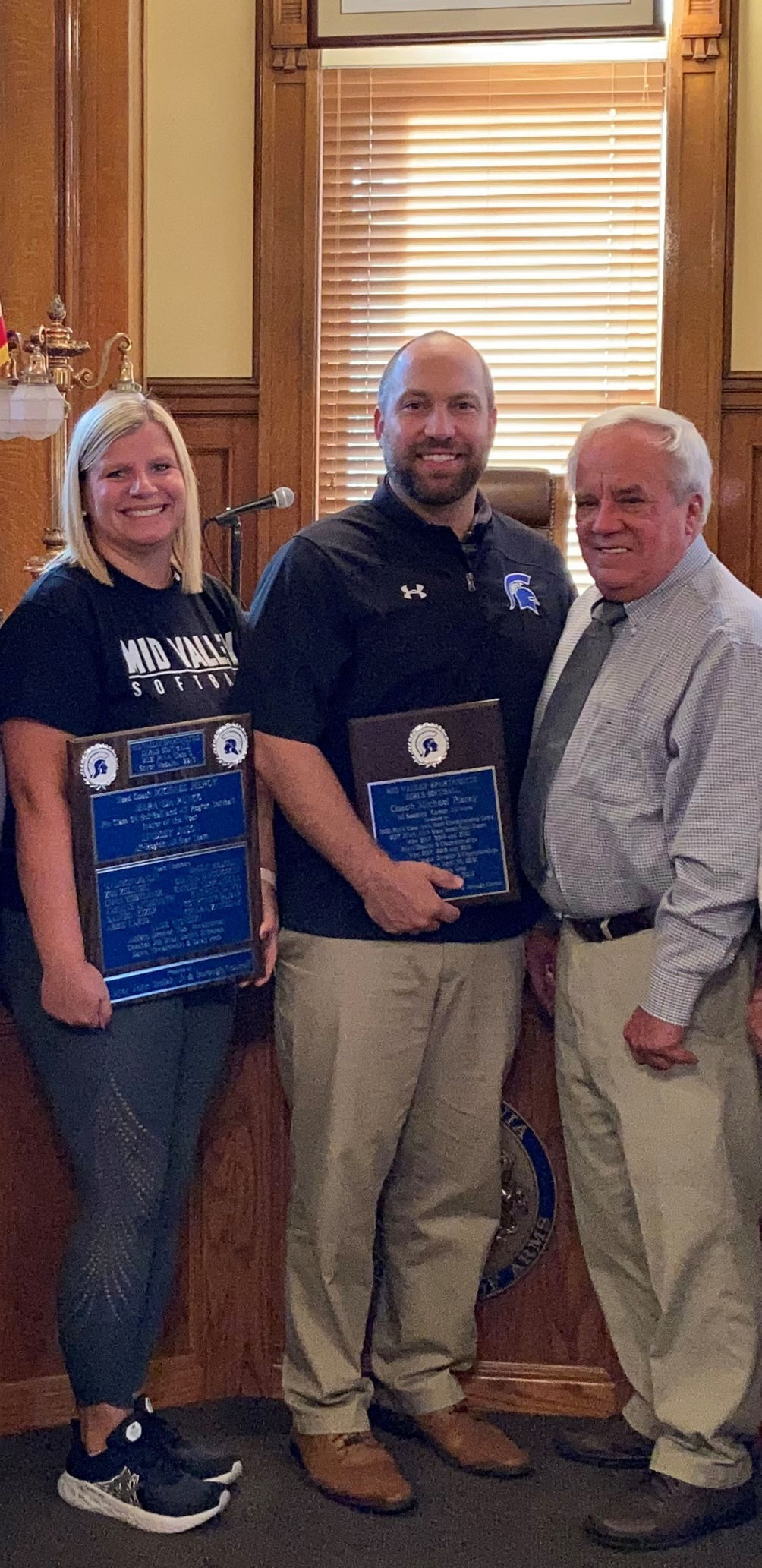 Olyphant recognizes Spartanettes softball champs