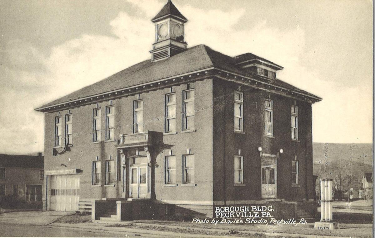 This undated postcard shows the Peckville borough building. COURTESY OF THE LACKAWANNA HISTORICAL SOCIETY
