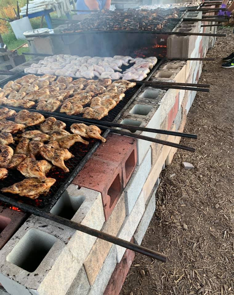 The barbecue pit behind William Walker Hose Co. in Mayfield.
