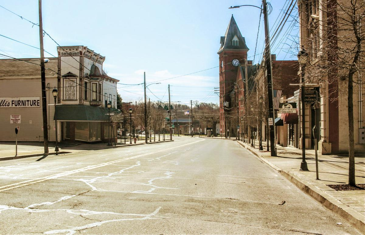 An empty Main St. in Carbondale.