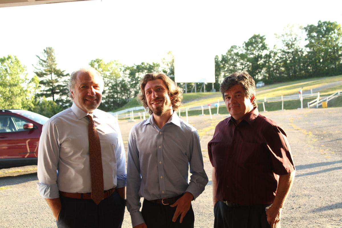 From left: Circle Drive-In president Joe Calabro, Jack Calabro and general manager Dave Castelli.