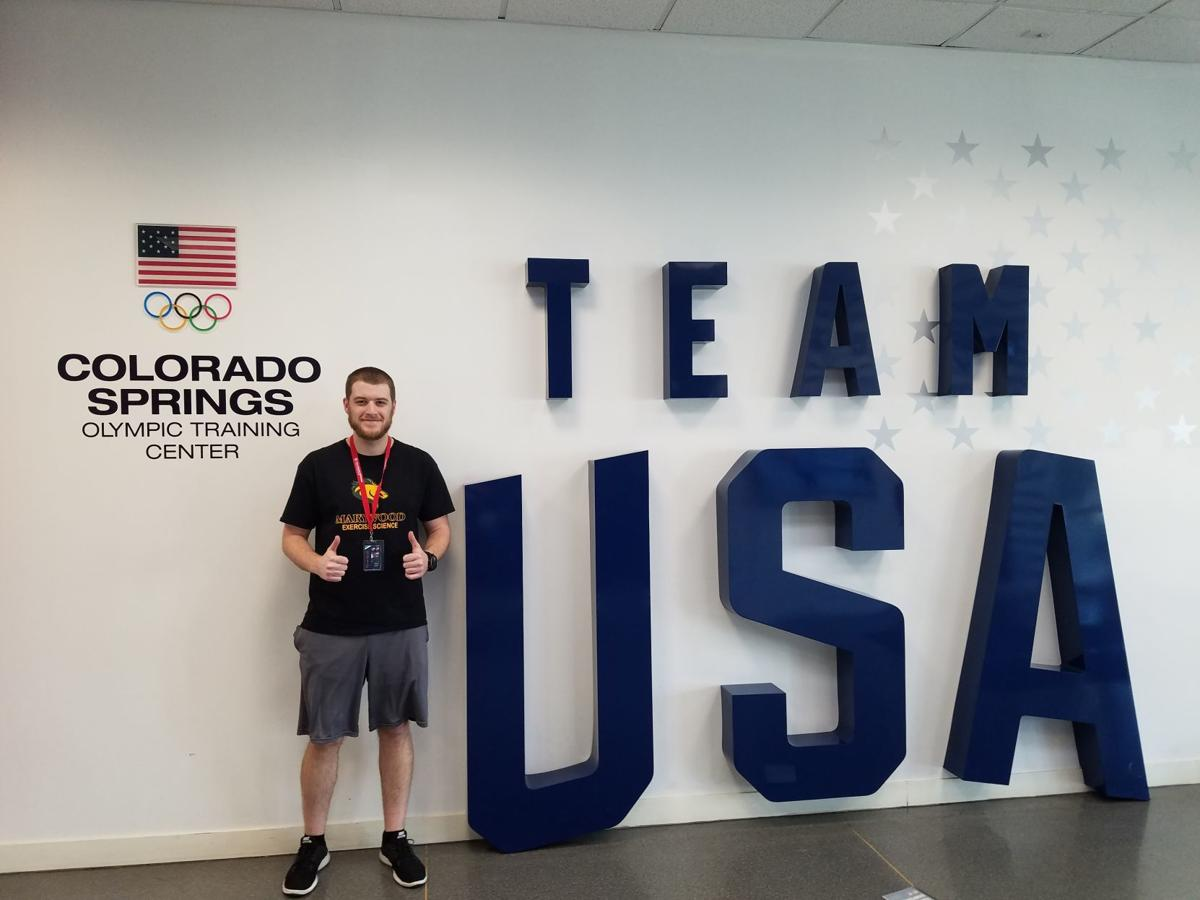 Nick Macano of Dunmore, a junior exercise science major at Marywood, attended the Team USA Symposium at the United States Olympic Training Center in Colorado Springs. SUBMITTED PHOTO