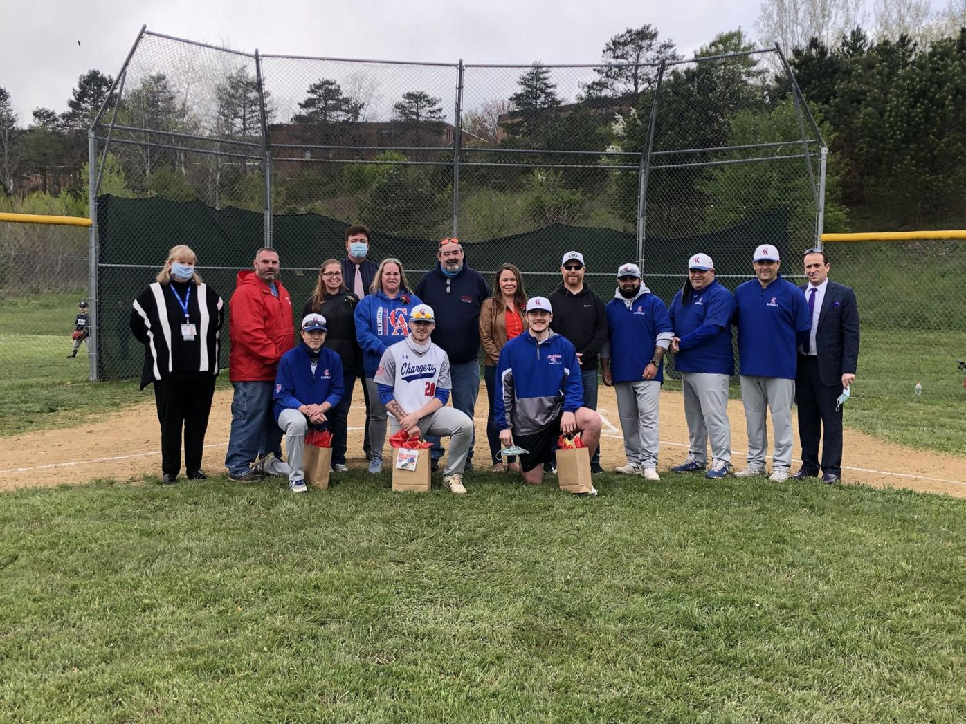 Carbondale Area celebrated Senior Night for the baseball team