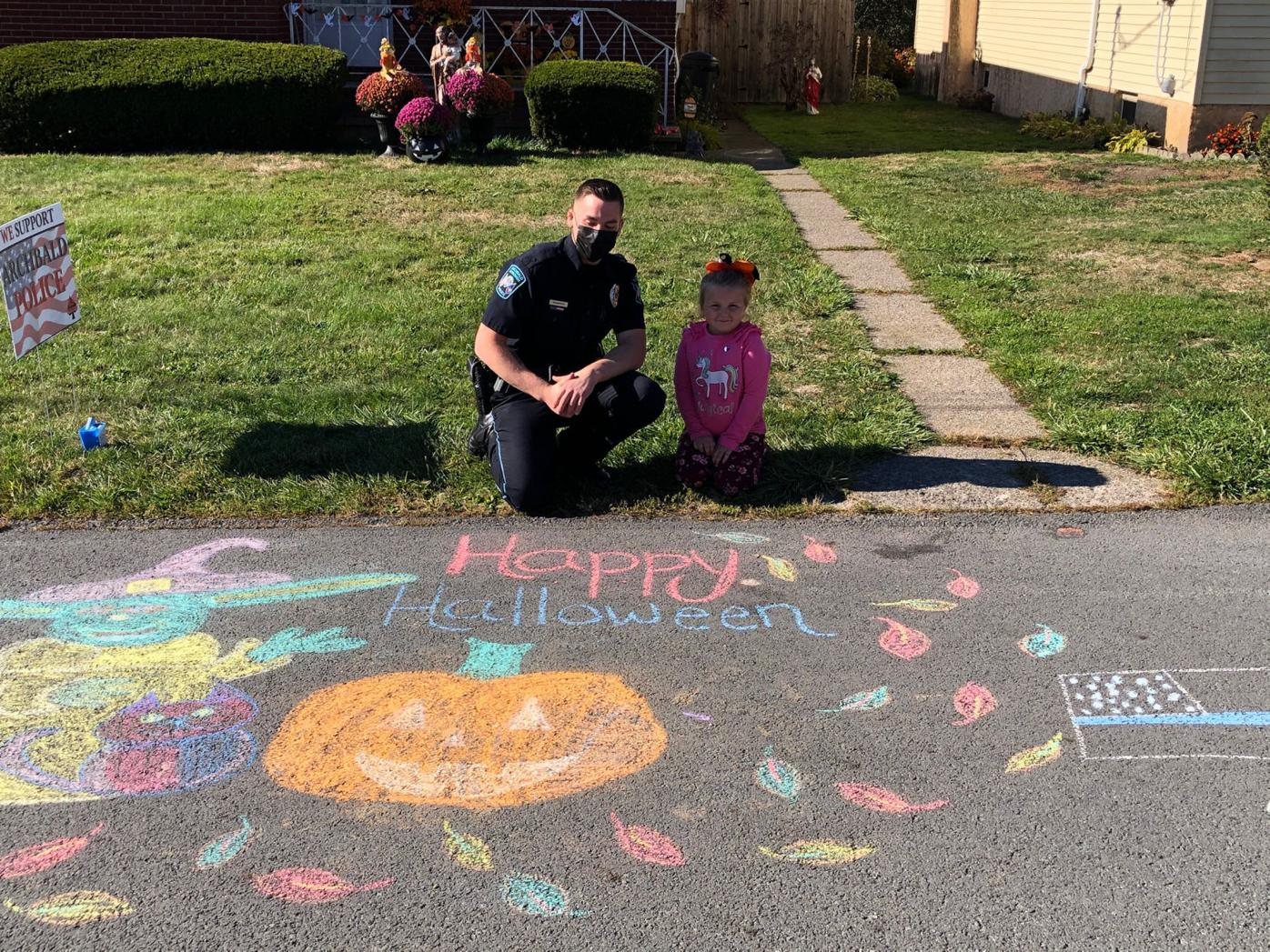 Chalk contest brings out Archbald's creative side