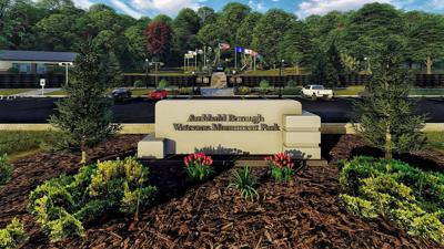 Artist rendering of what the finished park will look like.