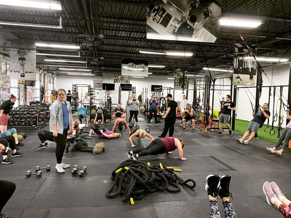 A workout group, pre-coronavirus pandemic, at NEPA Fit Club. SUBMITTED PHOTO