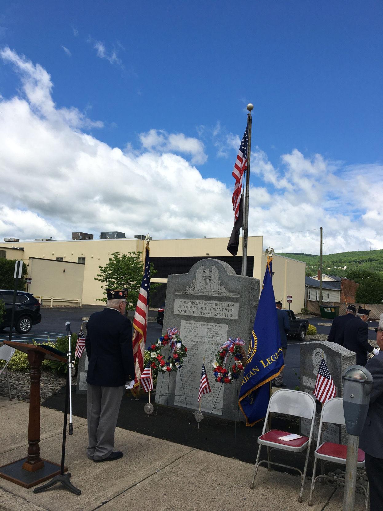 Olyphant American Legion observes Memorial Day