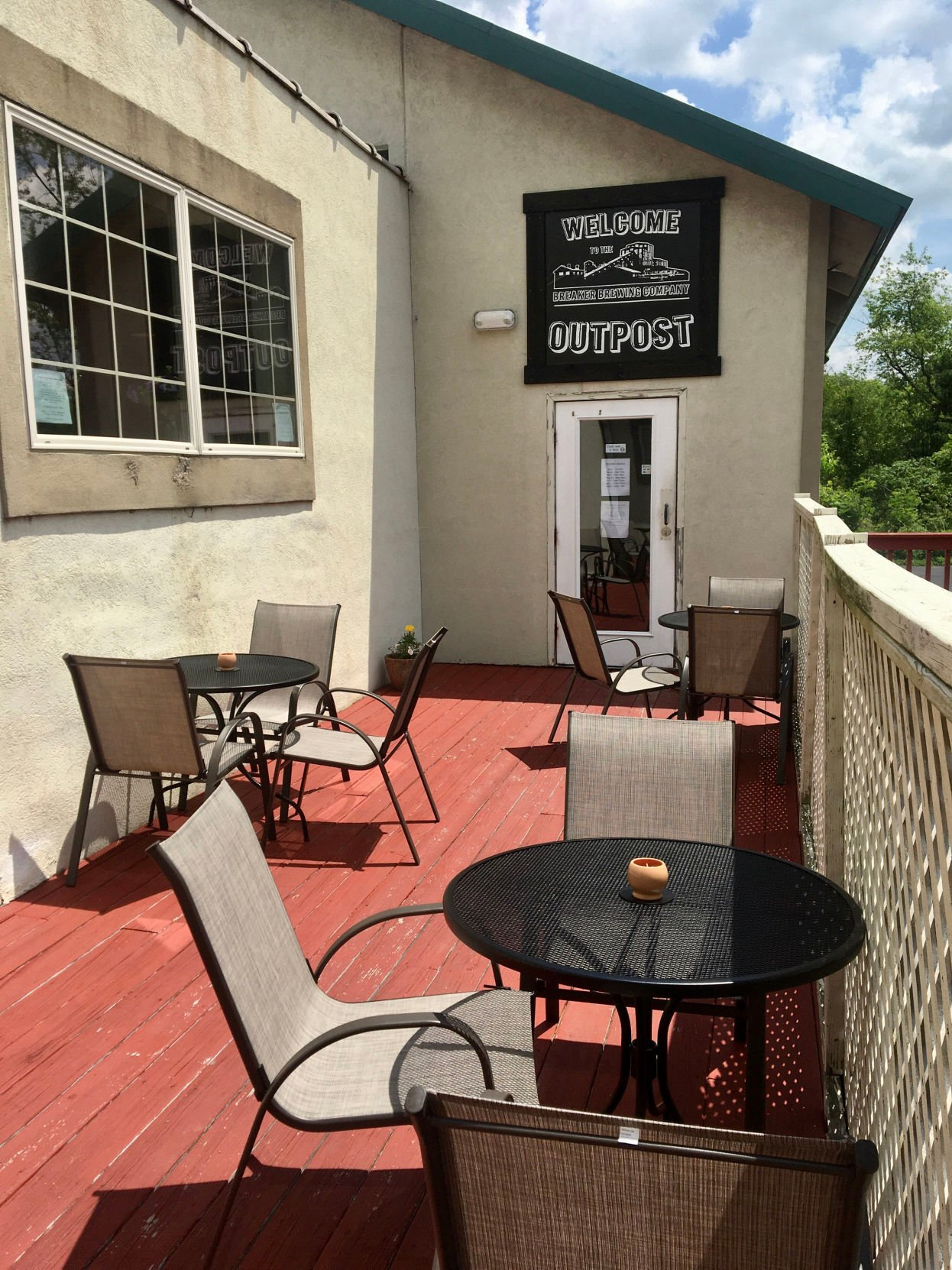 Breaker Brewing Outpost's patio, which is dog-friendly.