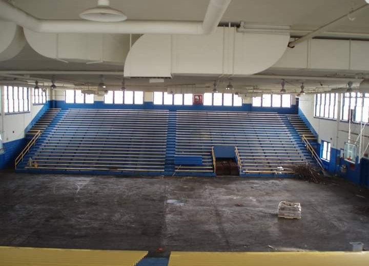 A view of the gymnasium from the top row of bleachers at St. Rose High School. PHOTO SUBMITTED BY GINA RACE