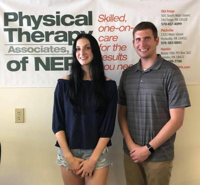 From left, Skylar Bianchi and Taylor Ott, DPT. Bianchi was one of three scholarship recipients announced by Physical Therapy Associates Inc. of NEPA