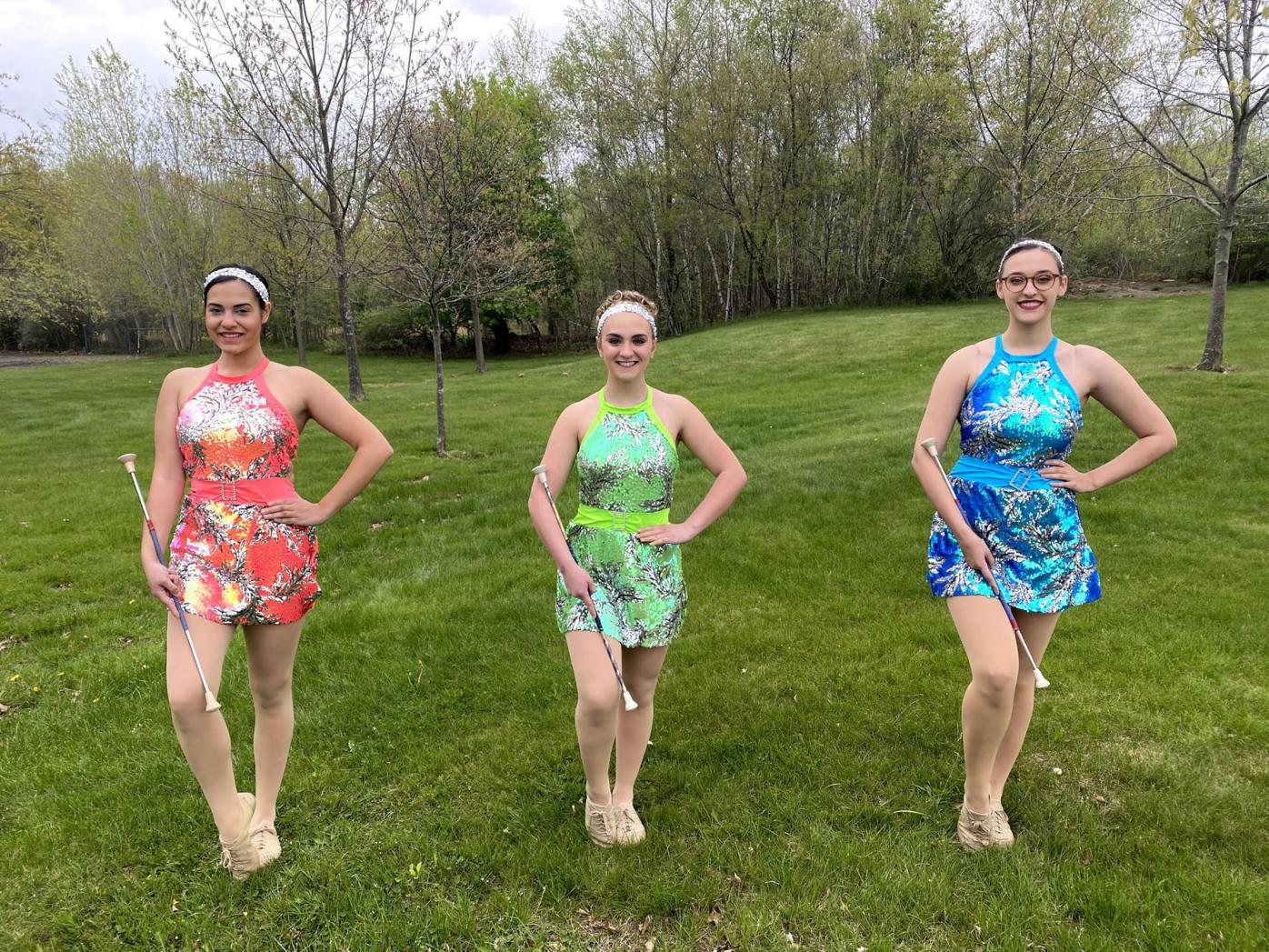 """Double """"R"""" Twirlettes graduating seniors will be featured in the group's dance recital on June 9. From left, Mia Velez, Allie Taffera and Lindsey Kausmeyer."""