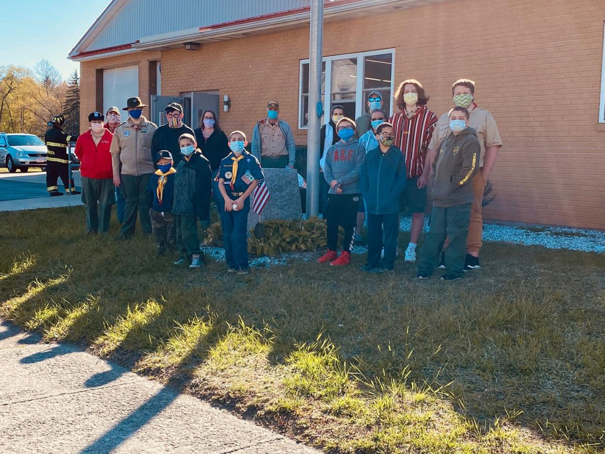 Boy Scout Troop No. 34 delivered goodie bags to residents of Jessup. SUBMITTED PHOTO