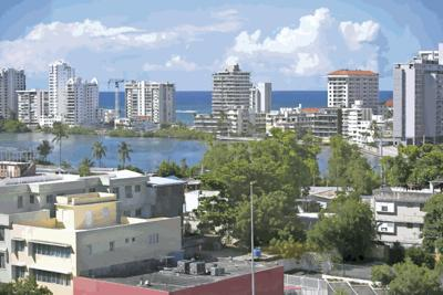 View of Condado and Miramar