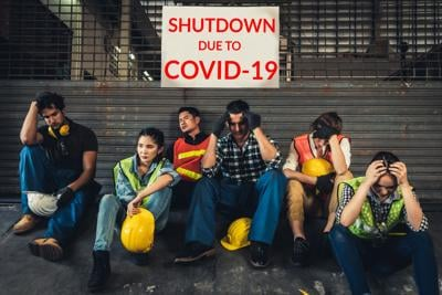 Factory shutdown due to outbreak of COVID-19.