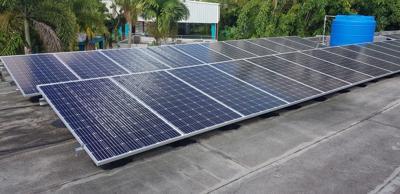 Solar panels at Montessori school
