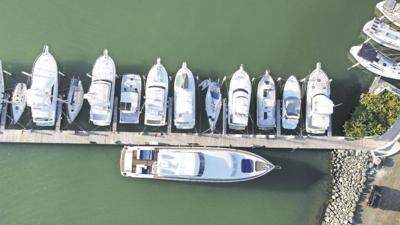 Marina, boats