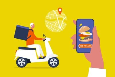 Food delivery service. Mobile application.