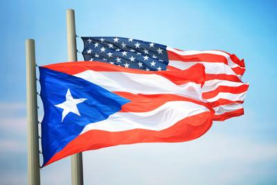 Statehood, Puerto Rico and US Flags