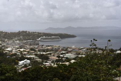 St. Vincent volcano cruiseship