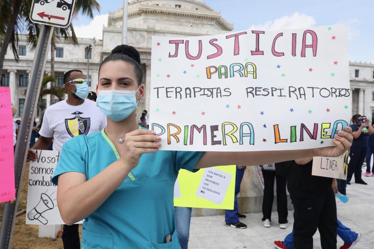 Demonstration, Health Technicians