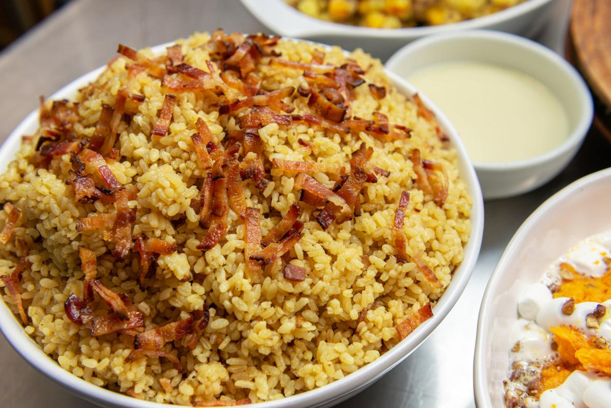 Rice and Bacon