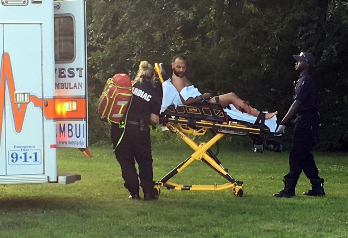 070719 STN Pawcatuck Little League murder suspect ambulance.JPG