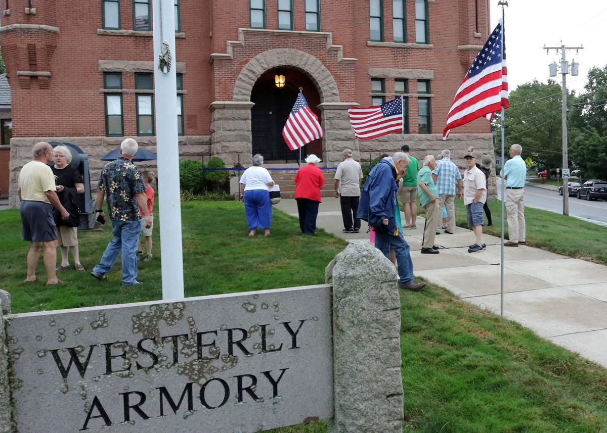 The Westerly Armory held a dedication and ribbon cutting