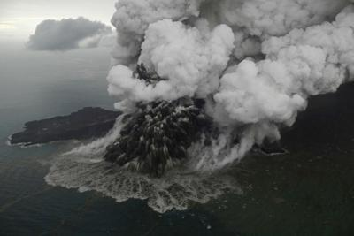 Mount Anak Krakatau eruption