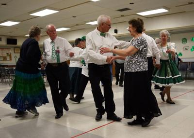 """The Westerly Senior Citizens Center hosted the Surfside 8 Square Dance Club's annual """"St. Pat's Dance"""" on Friday evening, March 15th, 2019. Jim Schell provided the calling for the square dancing and Margene Jervis provided the cuing for the round dancing. Both individuals are longtime members of the club. 