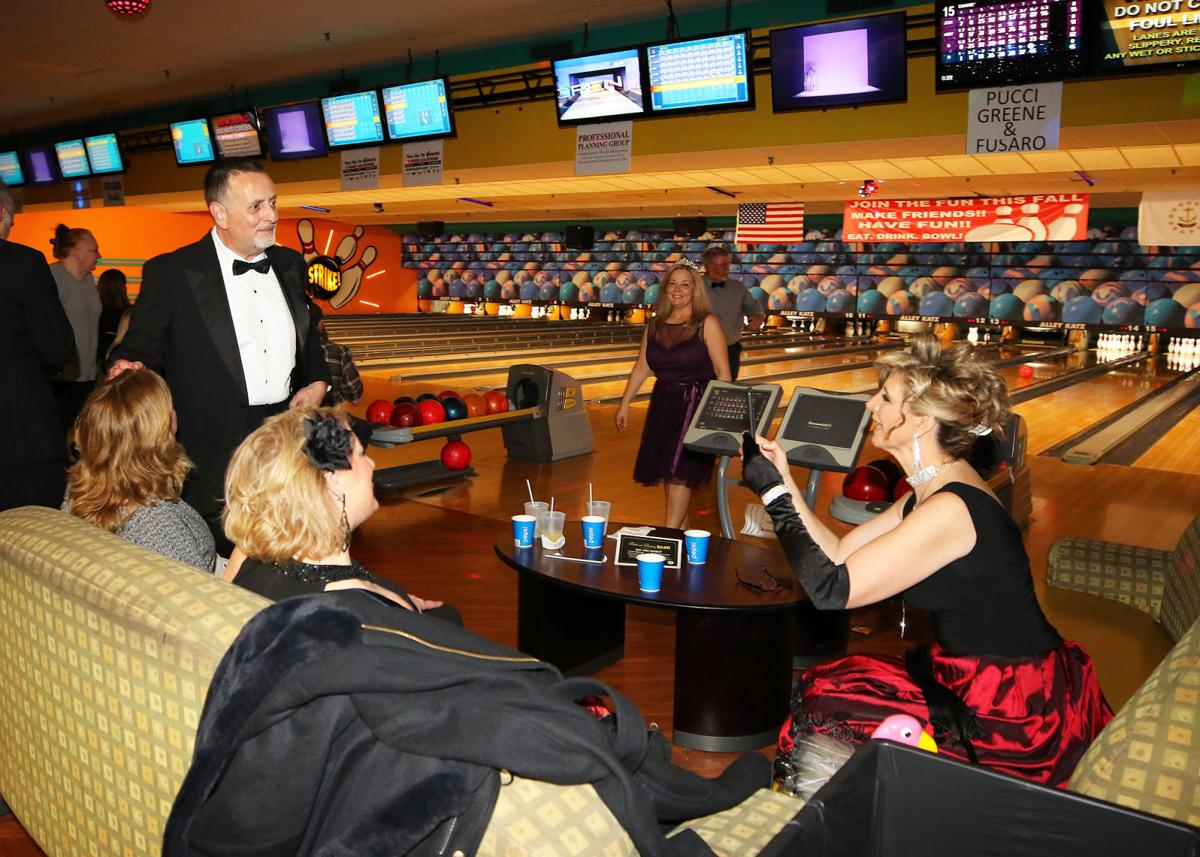 "The Jonnycake Center of Westerly held its annual bowl-a-thon fundraiser on Saturday evening, January 25th, 2020, at the Alley Katz Bowling Center in Westerly. This year's theme was ""Ballroom Bowling Bash"" where team members were encouraged to don ballroom style costumes and accessories. A $25 participant registration fee covered the cost of shoe rental, munchies and snacks, and three hours of unlimited bowling. 